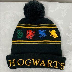 Harry Potter Hogwarts black stocking hat, one size